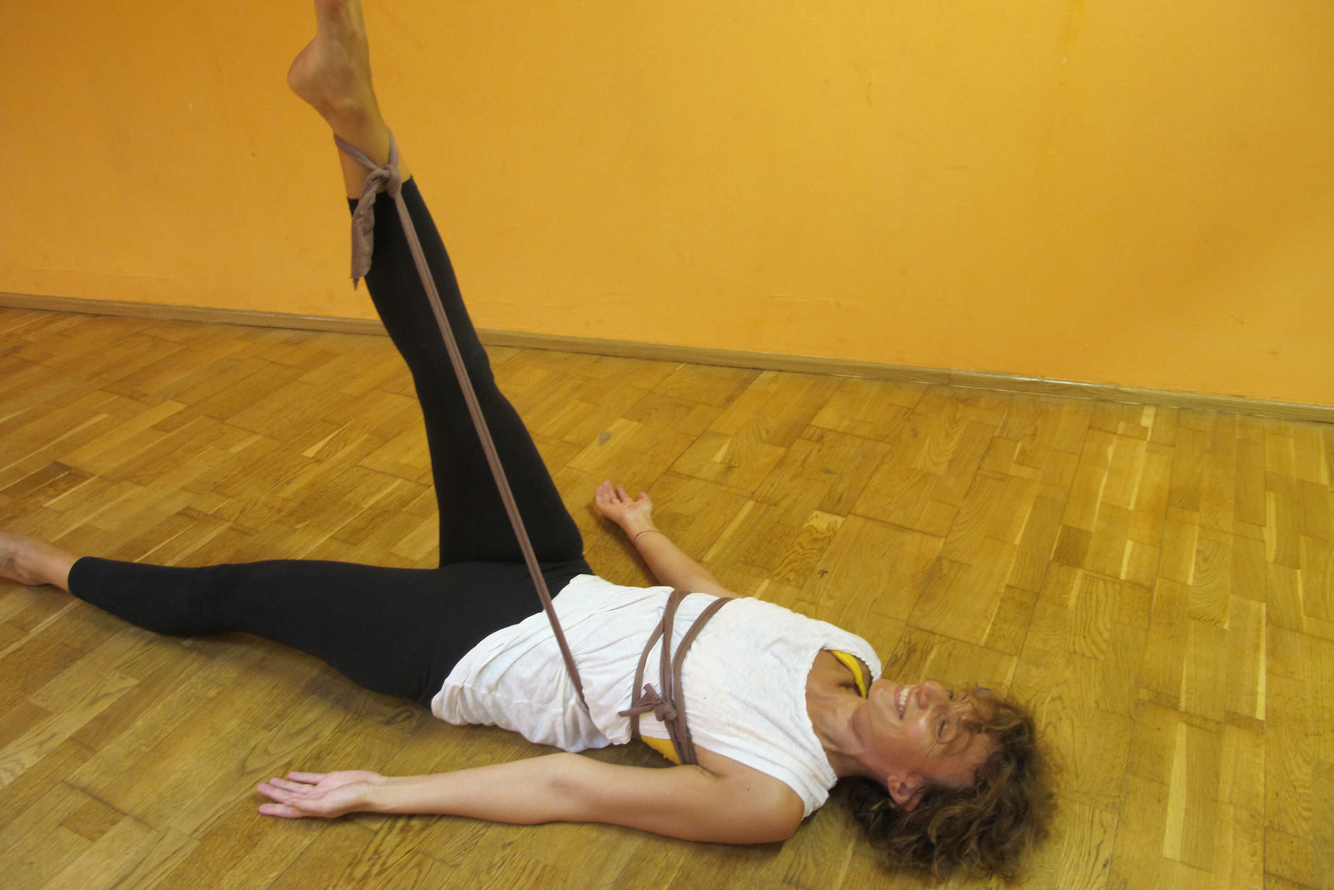 Pilates Leg Circle Übung Faszientraining Auswirkungen Effekte Training