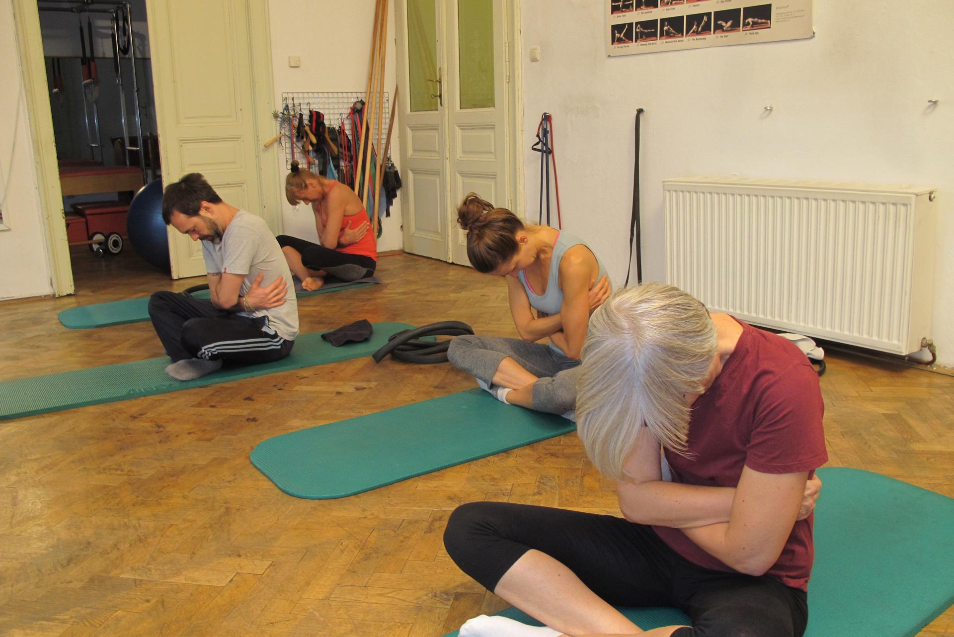 Pilates lateral posteriore Atmung Trainingsoptimierung Vorbereitung