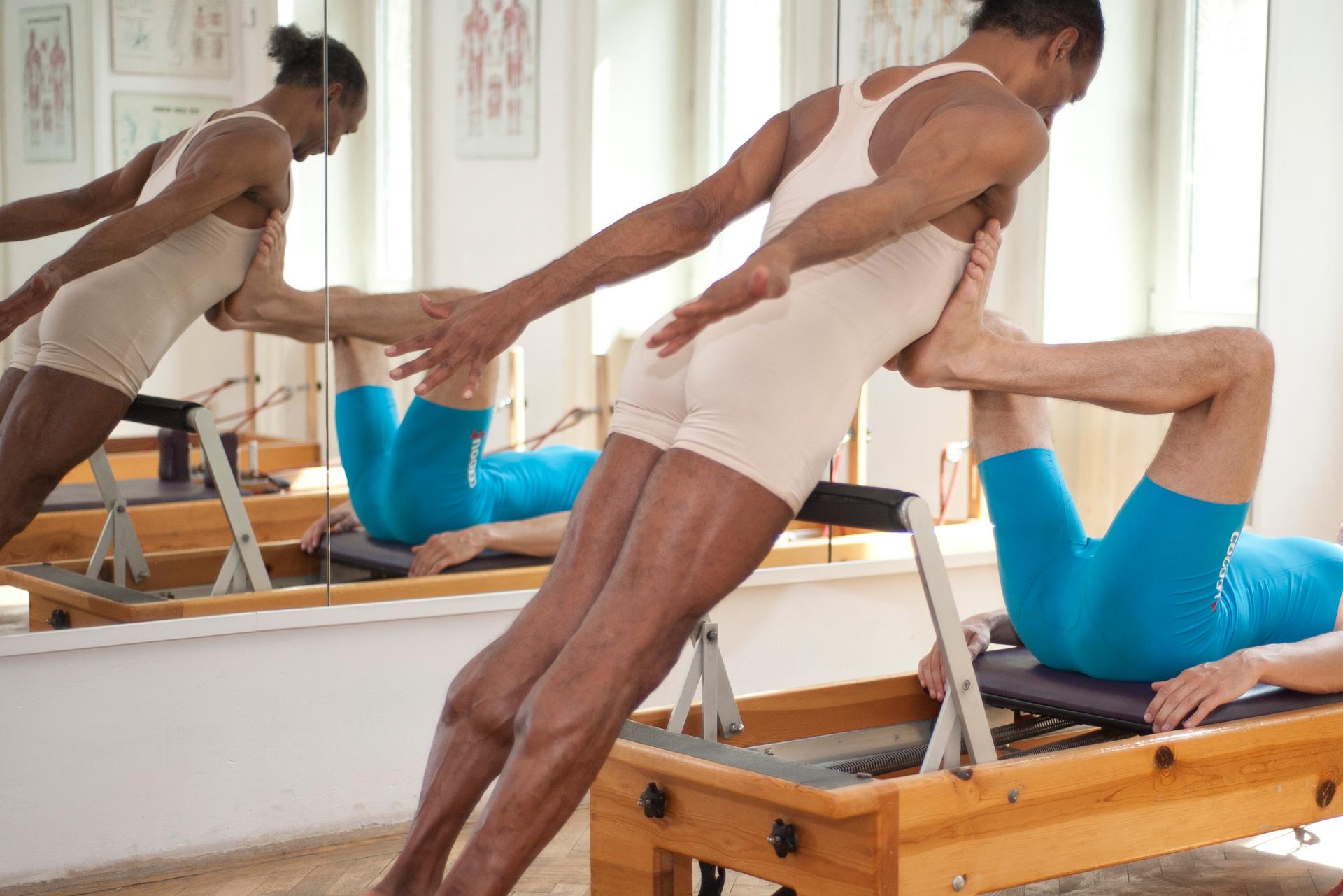 Differenzierte Pilates Reformer Footwork Wahrnehmungs-Tool Körperbewusstheit Trainingsoptimierung